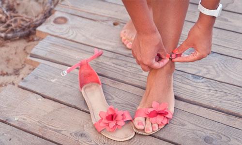 Prepara tus pies para las sandalias